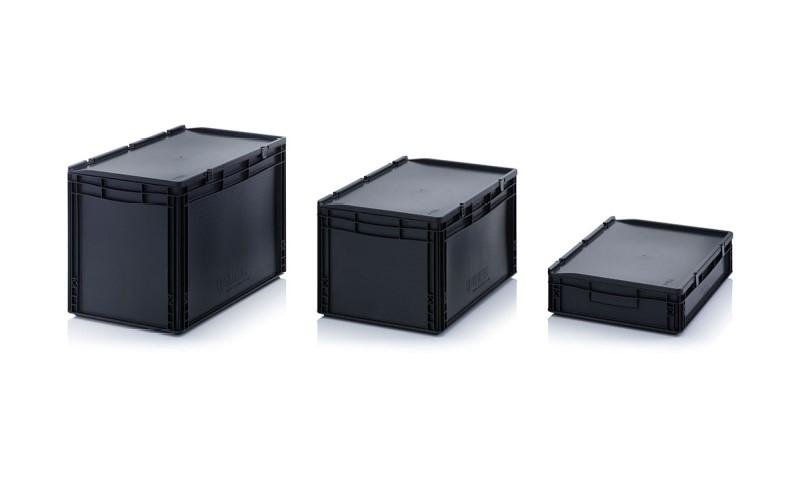 Пластмасови Евро контейнери ESD с капак