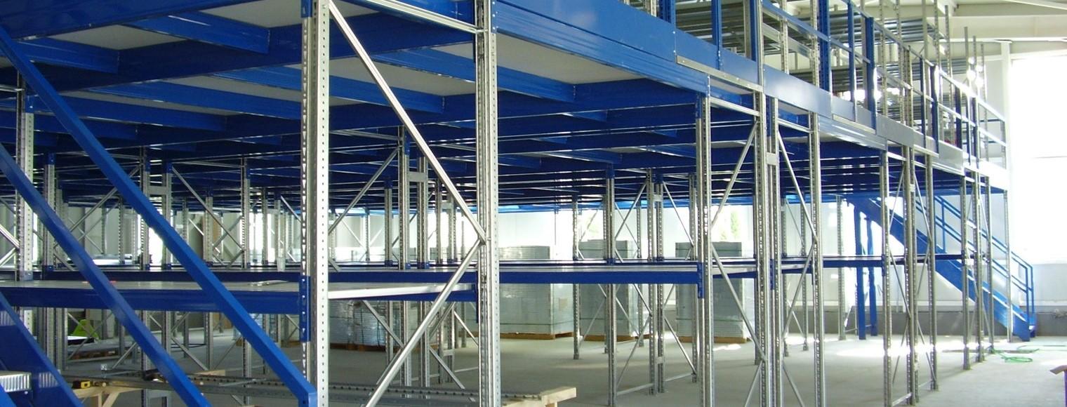 Етажни складови и мецанин конструкции